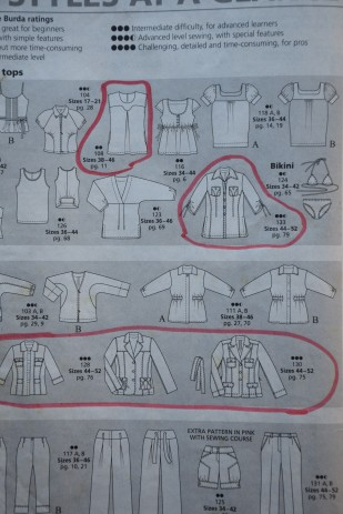 """All Styles at A Glance"" Like the circled designs."