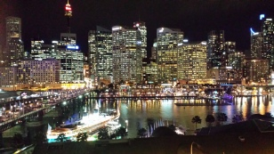 View from C + G's apartment. Looking to the city of Sydney