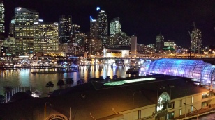 View from Carols' and Grahams' apartment at Darling Harbour