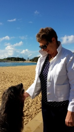 Cheryl and Lucy at Terrigal beach.