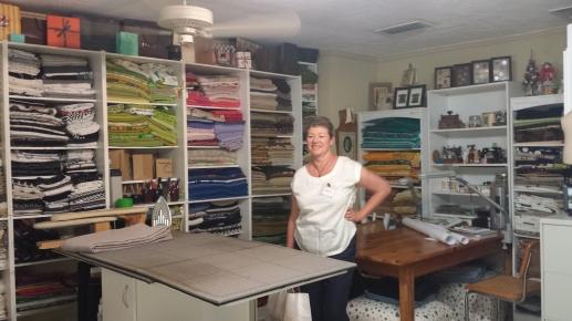 Louise Cutting's studio