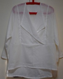 My Hearts A'Flutter by Cutting Line Designs overshirt in a light linen/cotton blend.