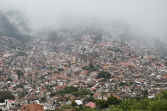 Taxco covered in mist